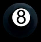 Black Glass 8 BALL Button