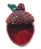 ACORN Glass Button with Metal Copper Cap (ome)