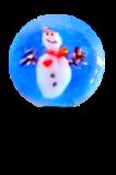 Diminutive SNOWMAN Snowglobe (object) Glass Paperweight Button