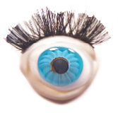 Glass EYE Realistic Button w/MOVEABLE Eyelashes