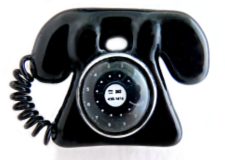 PHONE Moveable & Verbal Fused Glass Button with OME's Closeout Sale