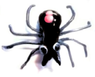 SPIDER Black Glass Button with Moveable/Flexible Legs